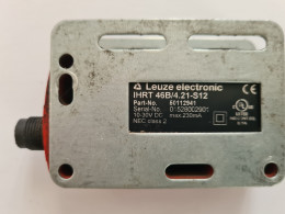 Leuze electronic IHRT 46B/4.21-S12.  Дифузний датчик з придушенням фону. Вживаний