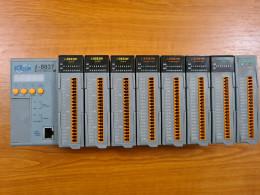 ICP CON CPU I-8837 + I-8053W + I-87061W + I-8017HW + I-87028CW.  CPU + вхідні та вихідні модулі + блок живлення. Вживаний